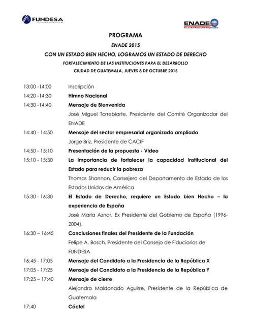 El programa del Foro se desarrollará desde el mediodía de este jueves.  (Foto: Enade)