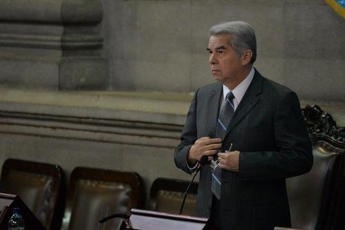 Luis Rabbé, actual presidente del Congreso, ha sido fuertemente criticado por no mantener el orden dentro del hemiciclo. (Foto: Wilder López/Soy502)