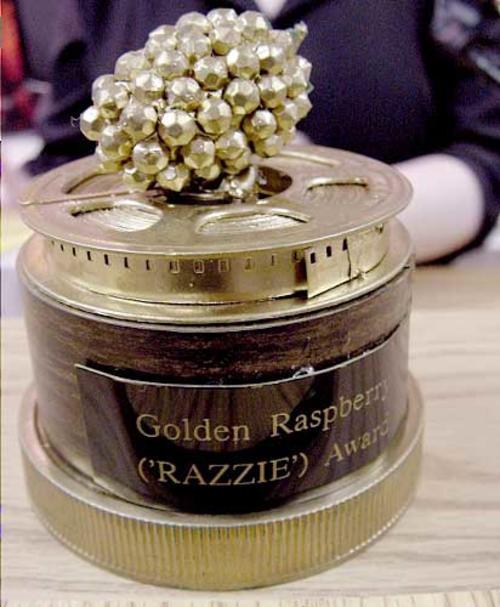 Este es el premio Razzie valorado en cuatro dólares.