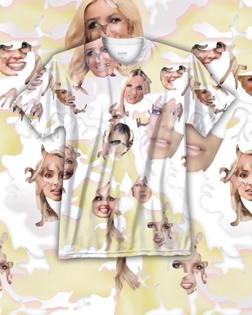 Las playeras tienen caras de varios artistas, las cuales buscan engañar la aplicación Grap Search de Facebook. Simone C. Niquille/ wired.com