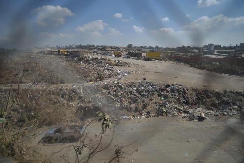 La vista del basurero desde la sede de la organización. (Foto: Wilder López/Soy502)