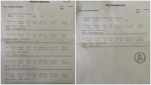 Histórico de las empresas en el Registro Mercantil. (Foto: Soy502)
