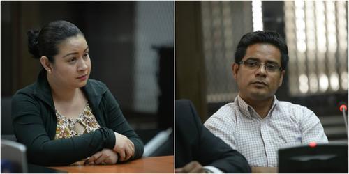 Mónica Jáuregui y José Rolando Gil, implicados en el caso La Línea, volvieron a prisión el 20 de febrero de 2017 por orden de la Sala de Mayor Riesgo. (Fotos: Wilder López/Soy502)