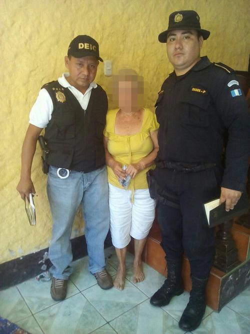 La mujer de 77 años fue secuestrada al salir de su vivienda en Suchitepéquez. (Foto: PNC)