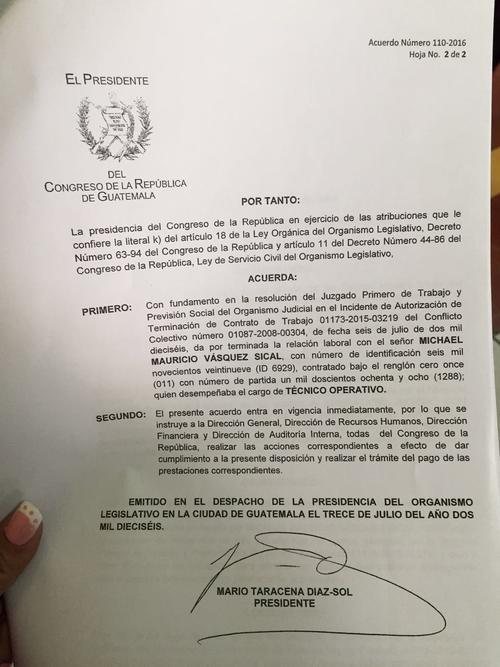Juez ordena la destitución del joven Michael Vásquez. (Foto: José Miguel Catañeda/Soy502)