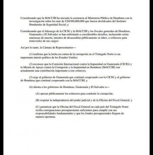Segunda página de la Resolución del Congreso.