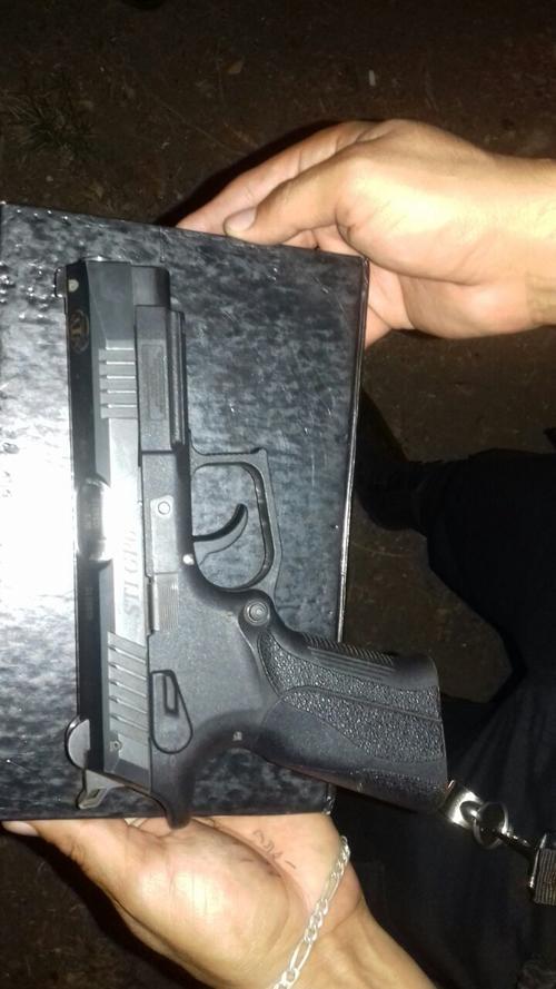 Esta es el arma que fue encontrada en el lugar donde se cometería el ataque. (Foto: PNC)