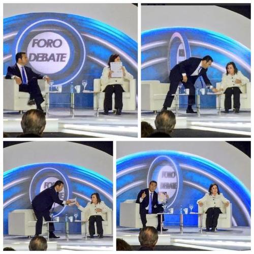 """Esta es la secuencia de imágenes del incidente de """"la revista"""" entre Sandra y Jimmy."""
