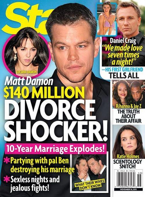 Medios de comunicación internacional afirman que Matt y Luciana se divorcian tras 10 años de matrimonio.