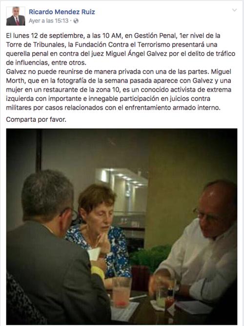 Así fue como se pronunció Ricardo Méndez al inicio del proceso. (Foto: Archivo/Soy502)