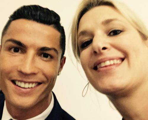 """La reportera, Hilde Van Malderen, es amiga de Cristiano Ronaldo y de otros """"Cracks"""" de futbol mundial. (Foto: Hilde Van Malderen)"""