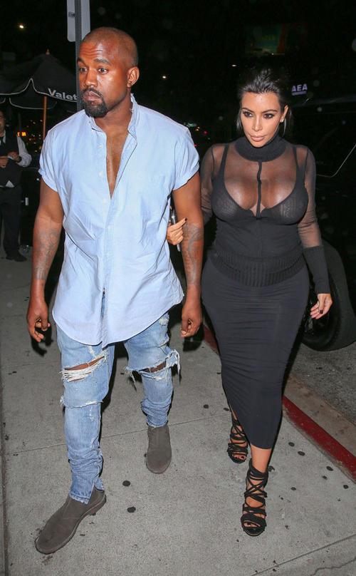 Kenye West y su esposa Kim Kardashian. (Foto: eonline.com)