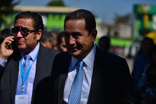 El hermano del presidente informó sobre la nueva producción durante un acto público del Presidente.  (Foto:  Wilder López/Soy502)