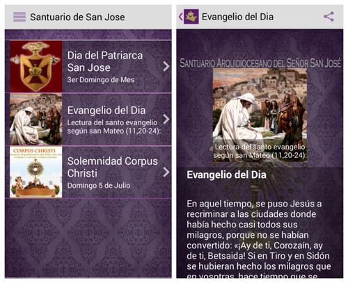 Una de las herramientas del Santuario de San José es el programa de actividades según la festividad.