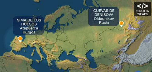 El análisis demuestra que el fósil encontrado en España está emparentado con una población de Siberia.
