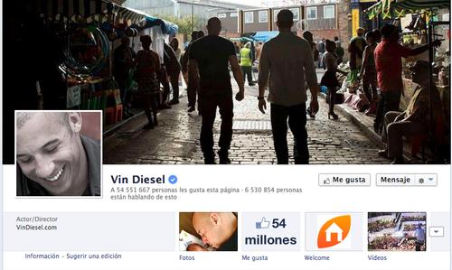 En la foto de la cuenta oficial de Facebook de Vin Diesel, el actor aparece junto a su amigo  Paul Walker. (Foto: Facebook)