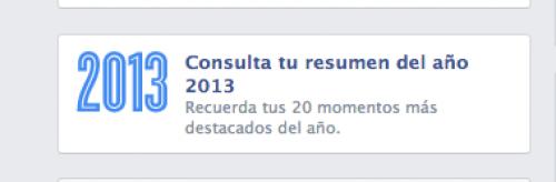 Resumen de tu año 2013 según Facebook.