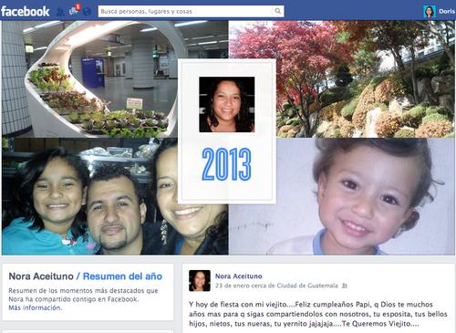 Resumen de los momentos más destacados que has compartido en tu muro de Facebook.