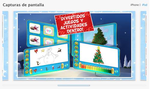 Cuento de navidad es una aplicación para iOS 7.