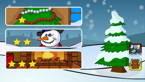 Aplicación para iOS 7, juegos de Navidad  para niños.