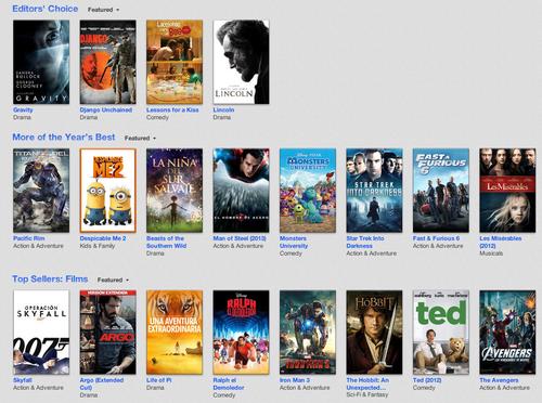 Las películas más descargadas en el 2013, según Apple