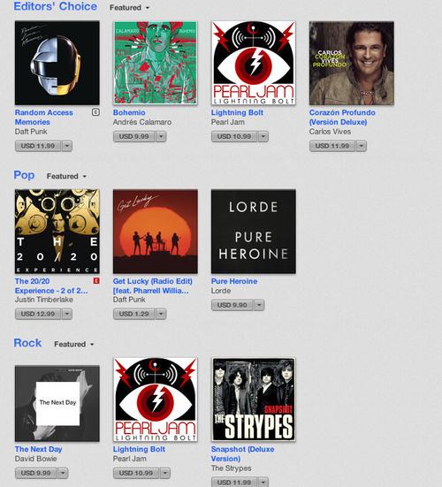 La música más descargada del 2013, según Apple.