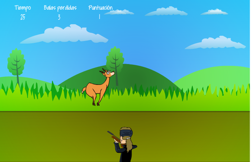 En el juego, Lucero debe disparar a los venados.