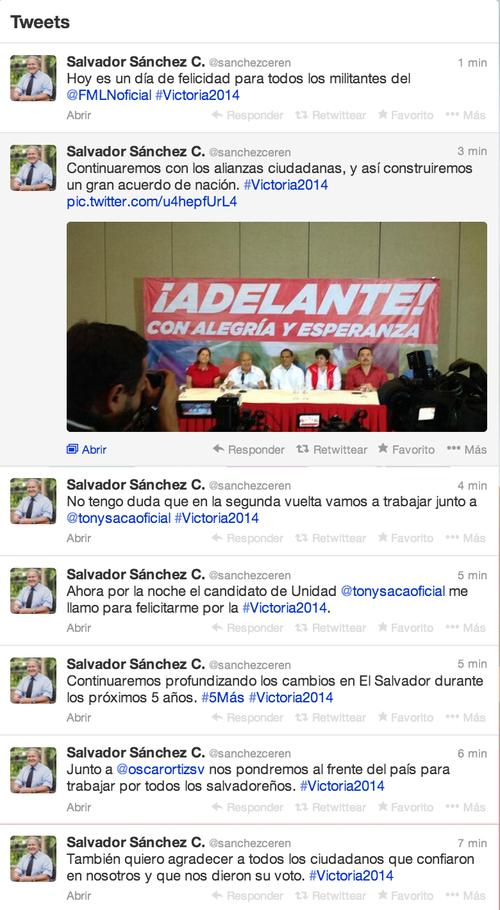 Durante la tarde el candidato denunció un ataque con cuentas falsas a su usuario de Twitter.
