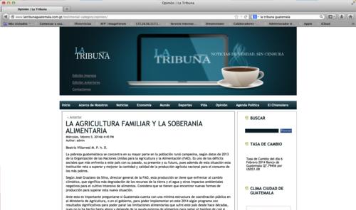 """Las columnas de Karlos de León desaparecieron de la sección """"Opinión"""" del diario La Tribuna."""