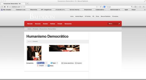 Los enlaces que aparecen en la portada de Baldizon.com ya no tienen ningún texto.