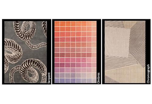Algunos de los diseños de alfombras de Kelly Wearstler.