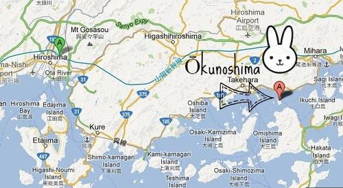 La isla se encuentra a una hora en barco desde Hiroshima.