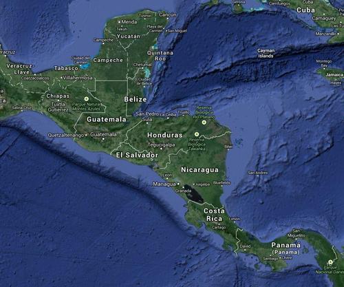 Guatemala, Honduras y El Salvador eran los principales países en donde el Chapo Guzmán operaba (Foto: Google maps)