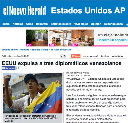 La publicación del Nuevo Herald. (Foto: Nuevo Herald/website)