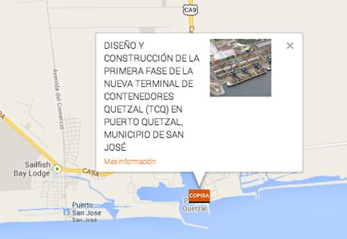 COPISA, la empresa que construirá la terminal en Puerto Quetzal ya tiene oficinas en dicha terminal marítima.  (Foto: Soy502)