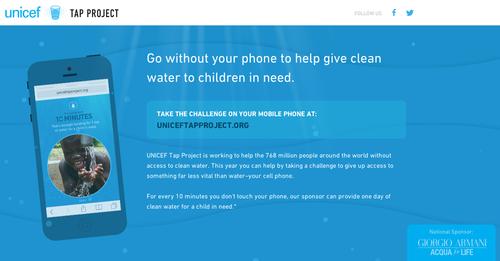 El proyecto funciona a través de uniceftapproject.org una página que puede ser navegable desde cualquier dispositivo móvil.