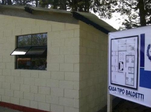 """Este fue el modelo de """"casa tipo Baldetti"""" propuesto por Fonapaz para los damnificados del terremoro en San marcos. (Foto: Transdoc)"""