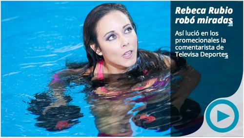 La guatemalteca Rebeca Rubio continúa con éxito su carrera como deportista y conductora en Televisa Deportes. (El Gran Chapuzón)