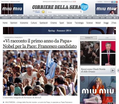 """El pontífice argentino confiesa que cuando fue elegido """"no tenía ningún proyecto para cambiar la Iglesia"""" y que está aplicando las sugerencias de los cardenales presentadas durante las reuniones previas al cónclave tras la histórica renuncia del papa alemán."""
