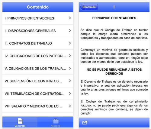 Una herramienta para los guatemaltecos que deseen conocer el código de trabajo y así defender sus derechos. (Foto: AppStore)