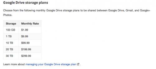Estas son las nuevas tarifas anunciadas por Google.