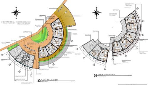 Estos son los planos de acabados presentados en el concurso en Guatecompras.
