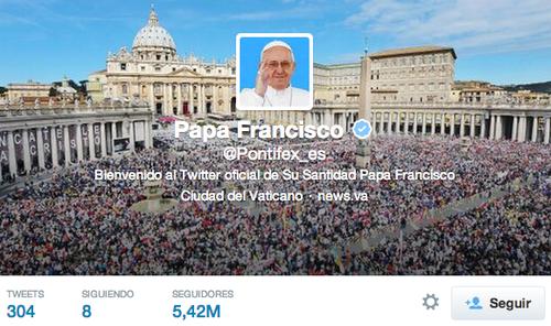 La cuenta del Papa Francisco que más seguidores tiene es la que el Pontífice posee en español. (Foto: Archivo)