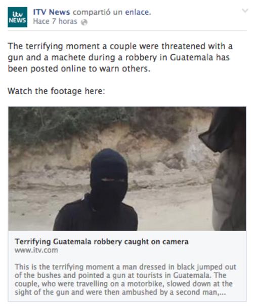 El ITV News publica una serie de fotos capturadas del video de Dan Landsborough.