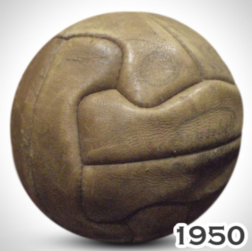 Balón utilizado durante el Mundial de Brasil en 1950.