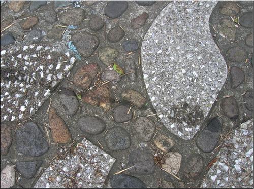Se encontraron diversas manchas de neumáticos y de aceite en el Teatro Nacional (Foto: Ministerio de Cultura y Deportes)