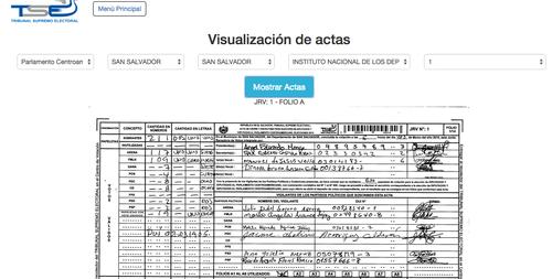 Esta es la imagen de la página del TSE de El Salvador que debía publicar los resultado preliminares de las elecciones, así continúa hasta ahora. (Foto: TSE El Salvador)