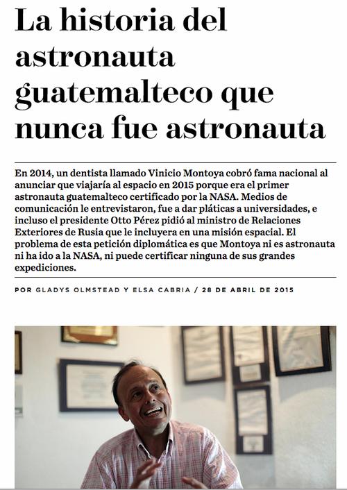 Titular y primeros párrafos del reportaje publicado este martes por Nómada.