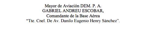 De esta manera aparece el nombre del nuevo Director de Aeronáutica Civil en la proclama de Efraín Ríos Montt, publicada por Plaza Pública.