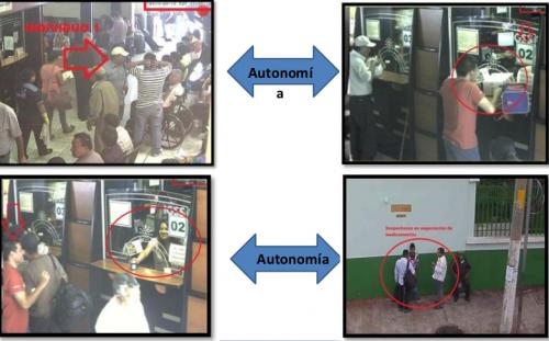 Las imágenes fueron presentadas por el MP y evidenciaron la forma de operar de la red. (Foto: Archivo)